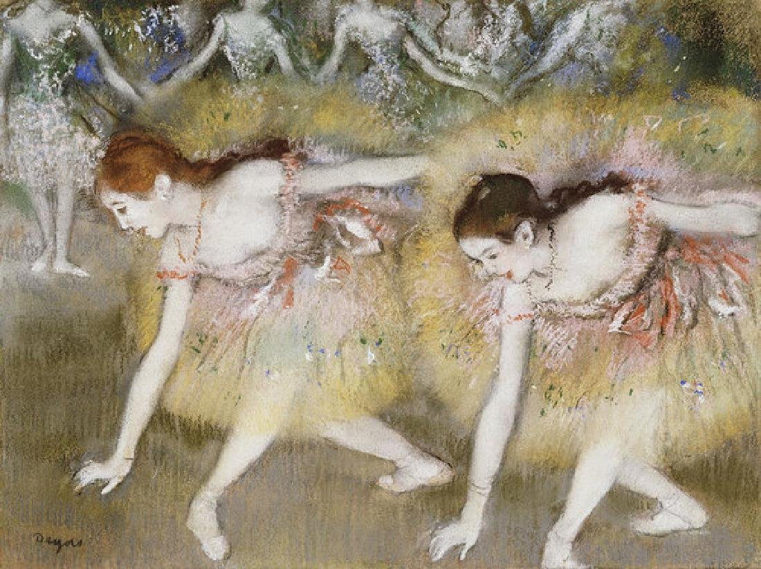 Dancers Bending Down Oil Painting
