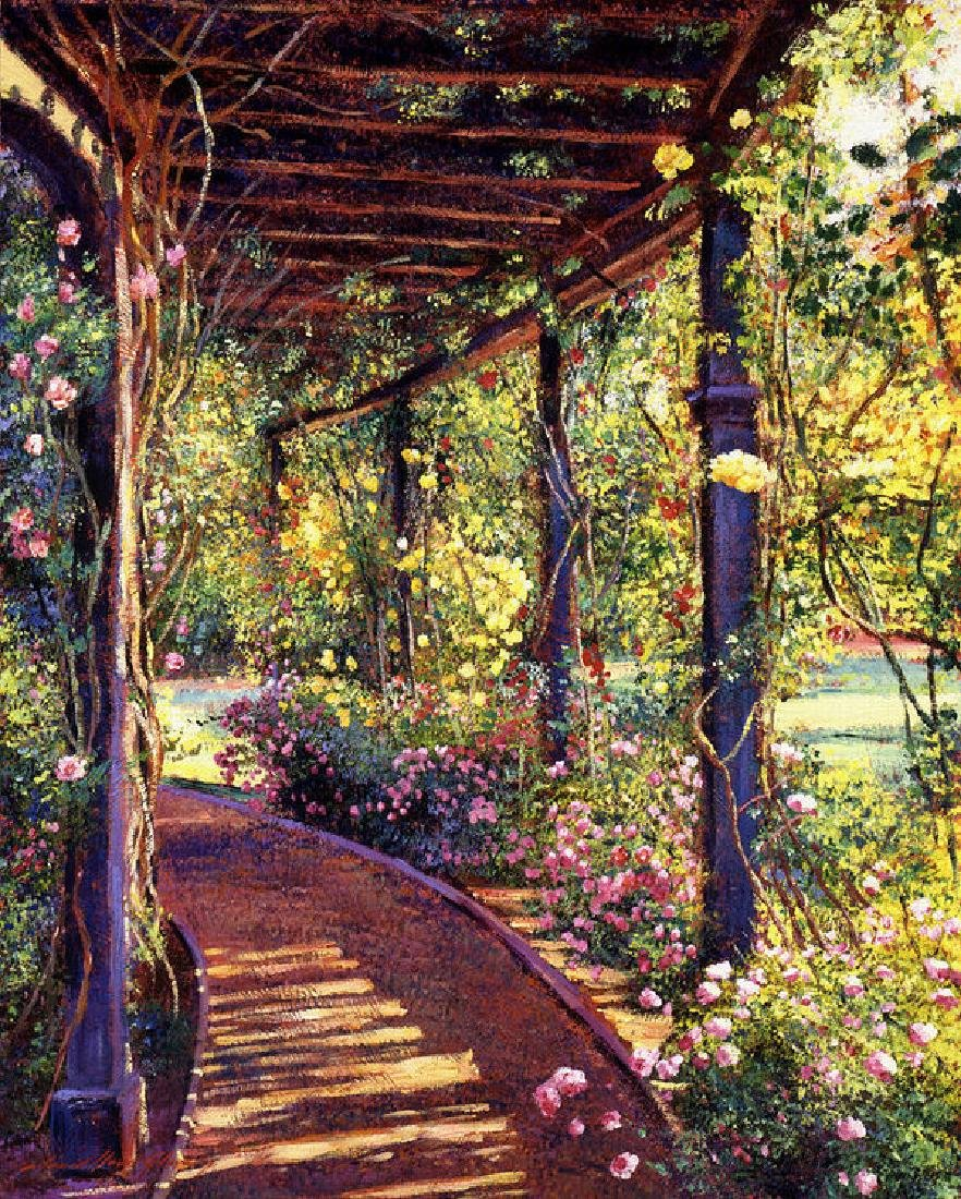 Rose Arbor Toluca Lake Oil Painting