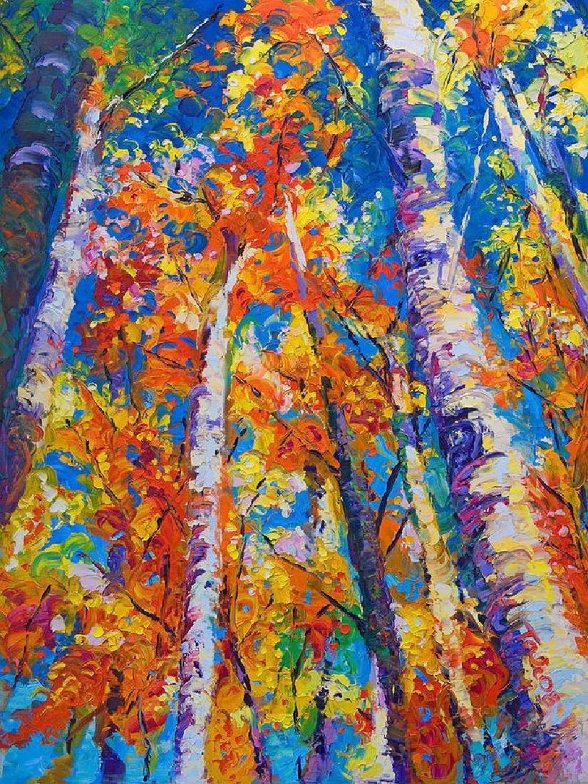 Redemption - Fall Birch And Aspen Oil Painting