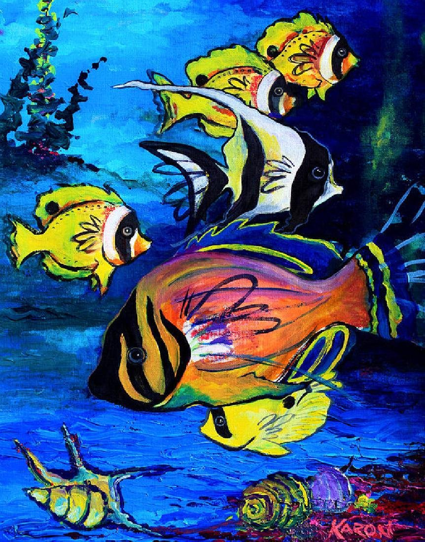 Tropical Fish Oil Painting