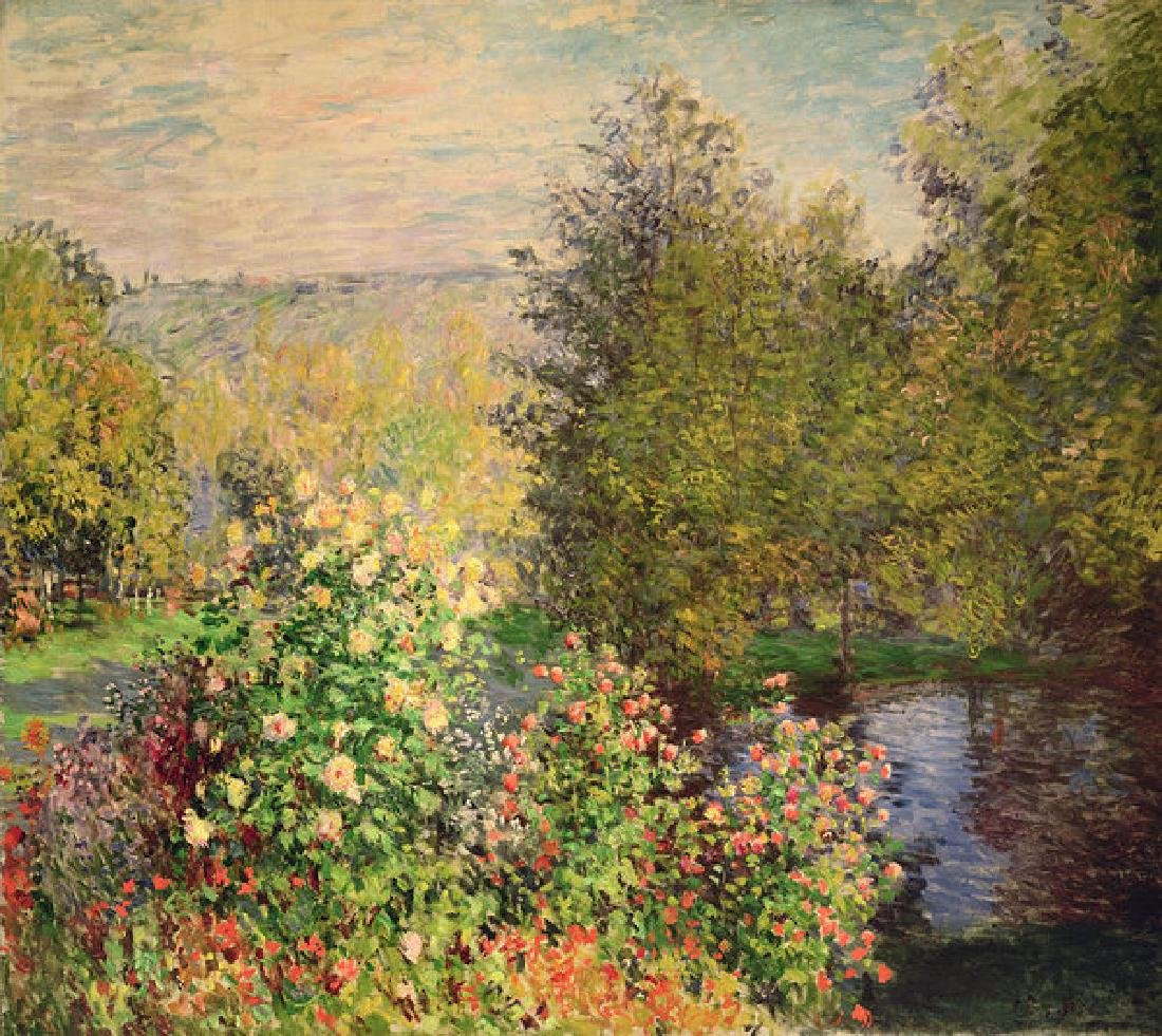 A Corner Of The Garden At Montgeron Oil Painting