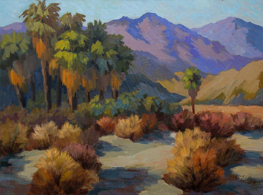 Thousand Palms Oil Painting