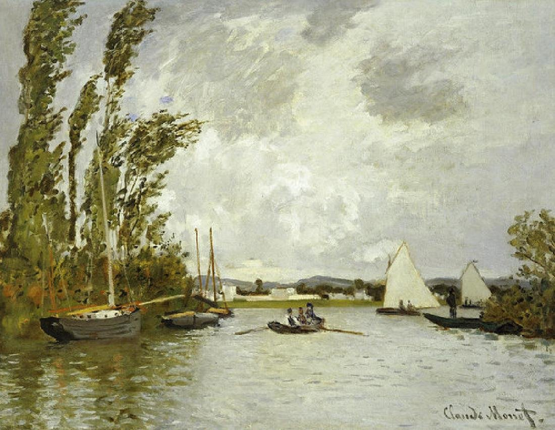 The Little Branch Of The Seine At Argenteuil Oil