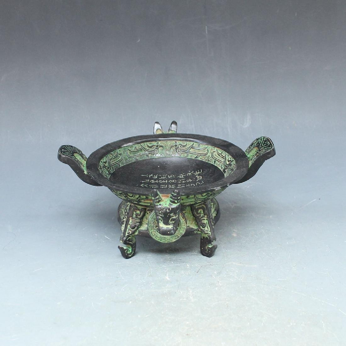 Chinese Antique Bronze Treasure Bowl