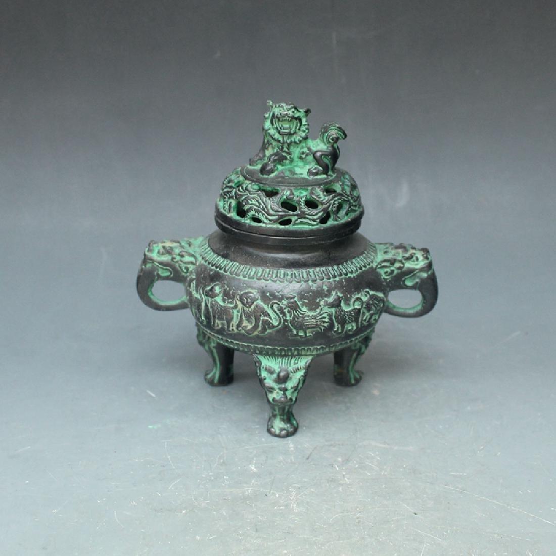 Chinese Antique Bronze Incense Burner