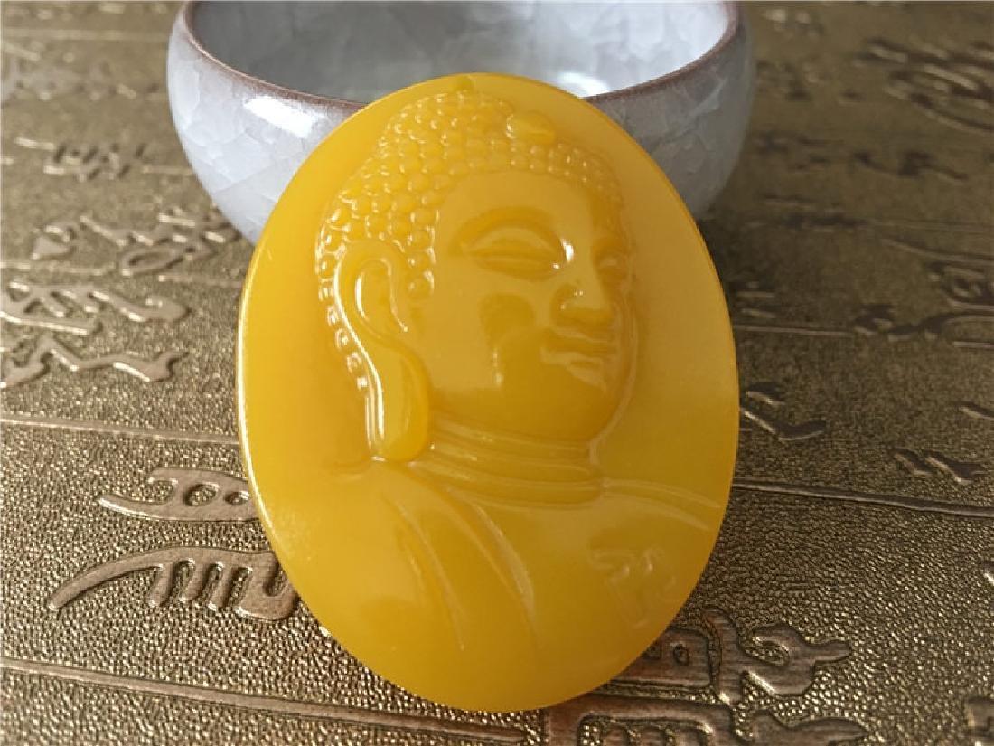 Hetian Jade Buddha Pendant