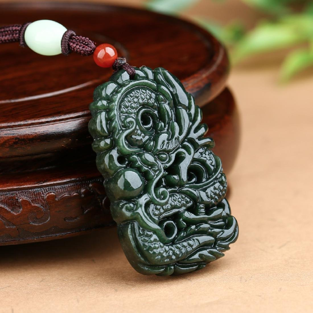 Hetian Jade Dragon Pendant