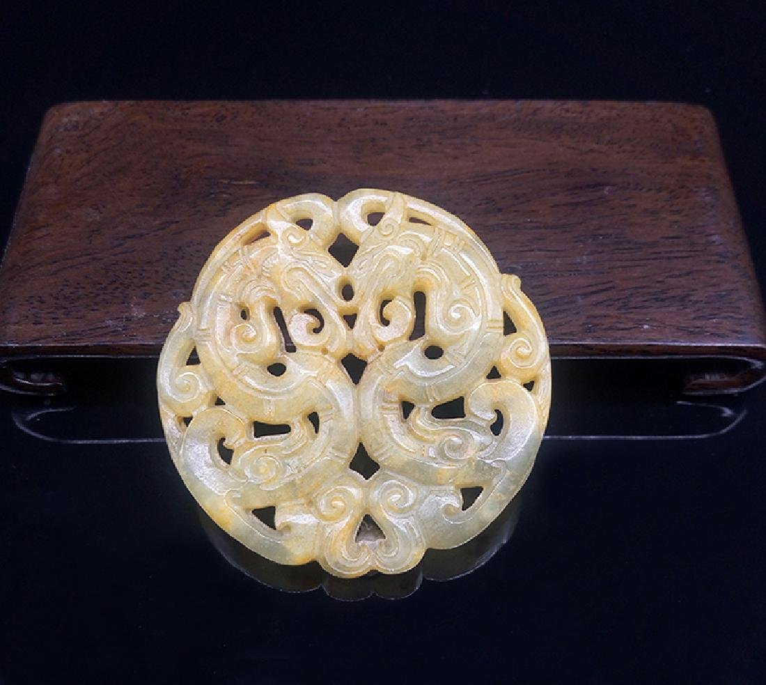 Xiuyan Jade Dragon Pendant