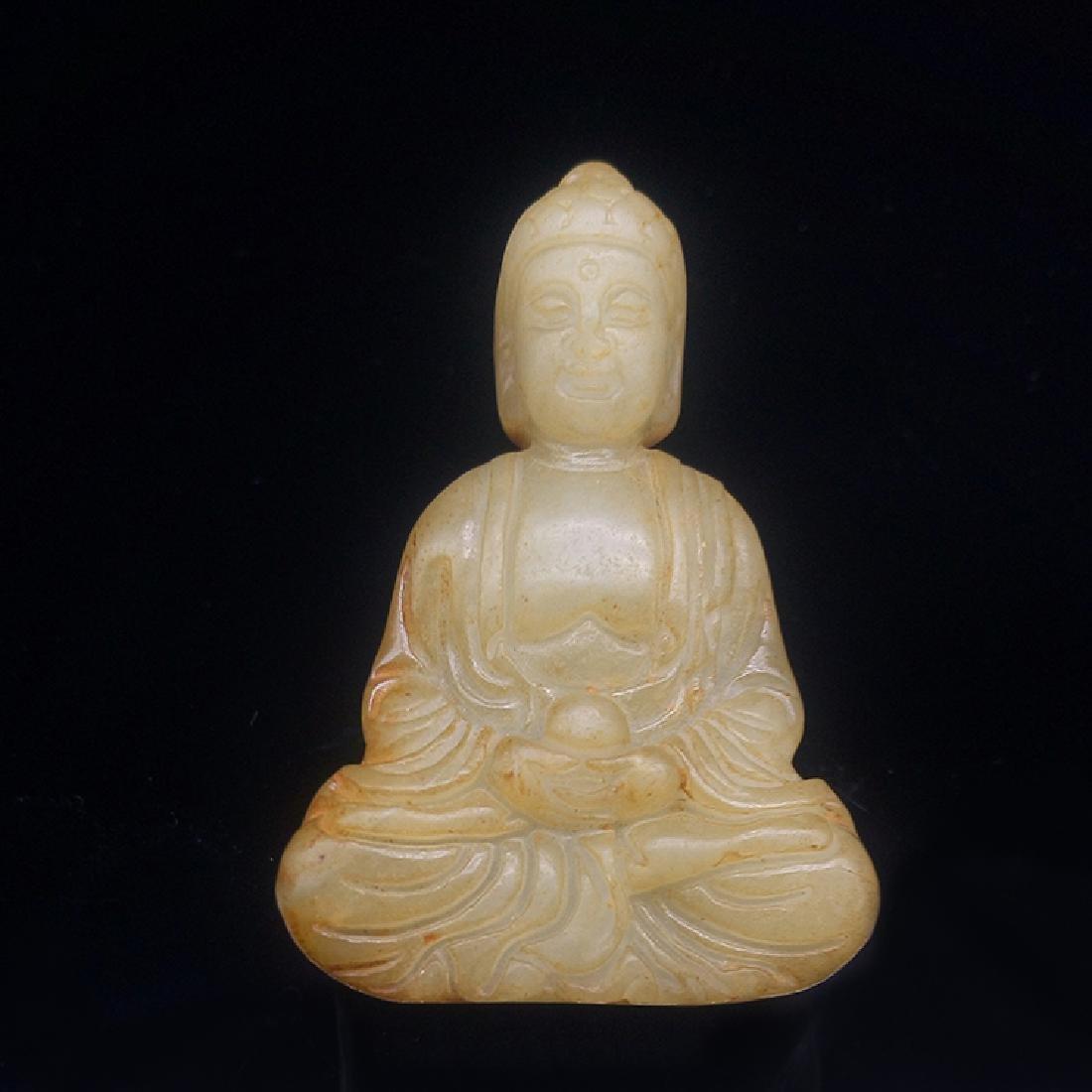 Xiuyan Jade Buddha Statue - 2