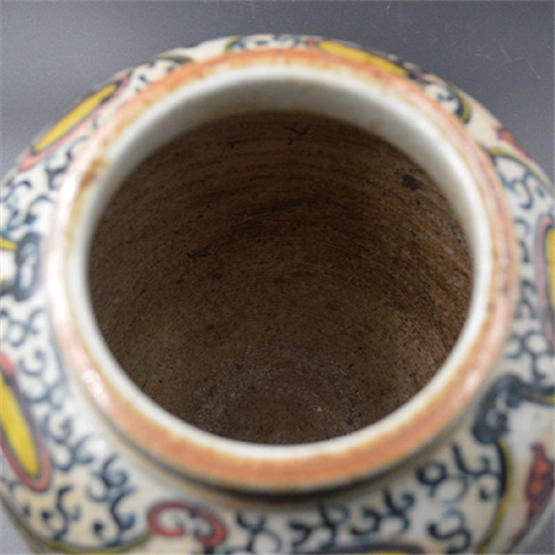 Chinese Ming Dynasty Blue & White Glaze Porcelain Jar - 4