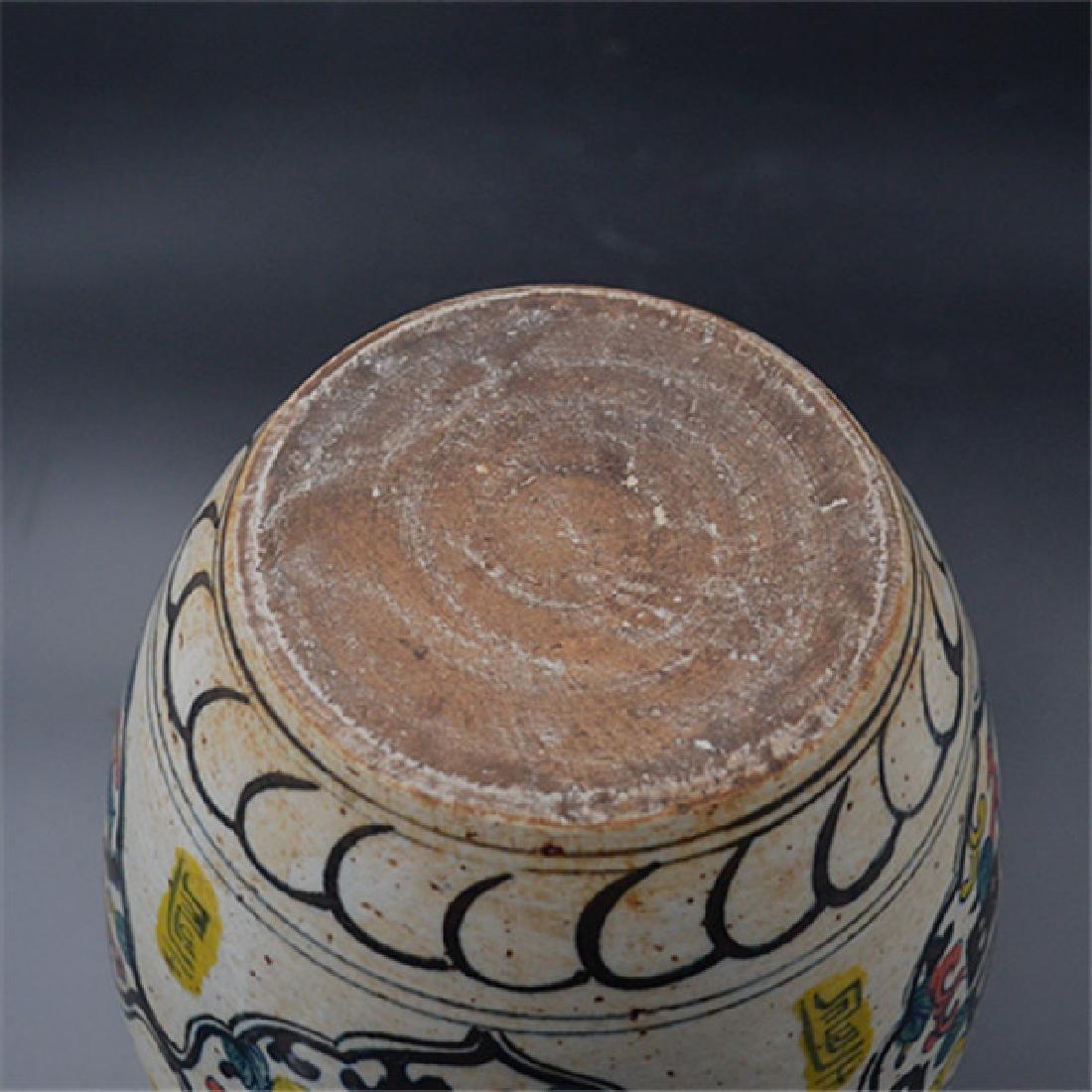 Chinese Ming Dynasty Blue & White Glaze Porcelain Jar - 5