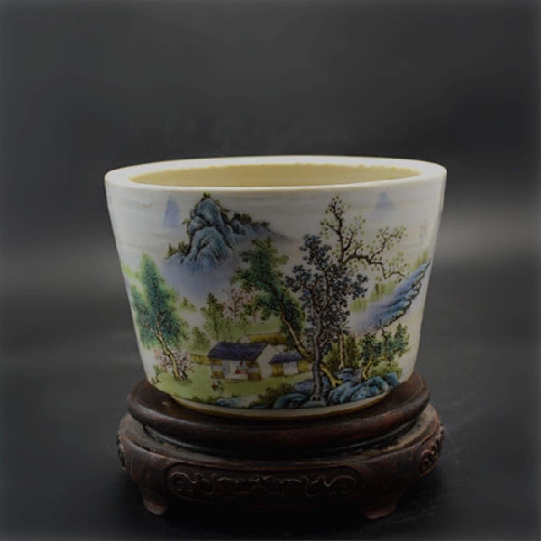 Chinese Republic Of China Porcelain Flower Pot With