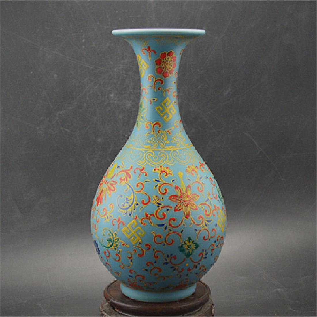Chinese Qing Dynasty Yongzheng Time Blue Glaze Enamel - 2