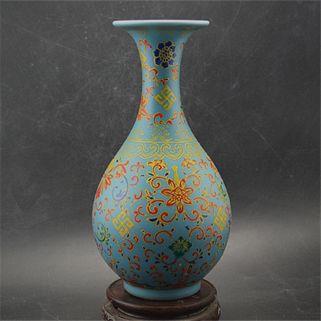 Chinese Qing Dynasty Yongzheng Time Blue Glaze Enamel - 3