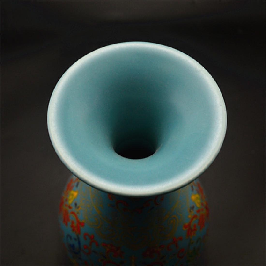 Chinese Qing Dynasty Yongzheng Time Blue Glaze Enamel - 4