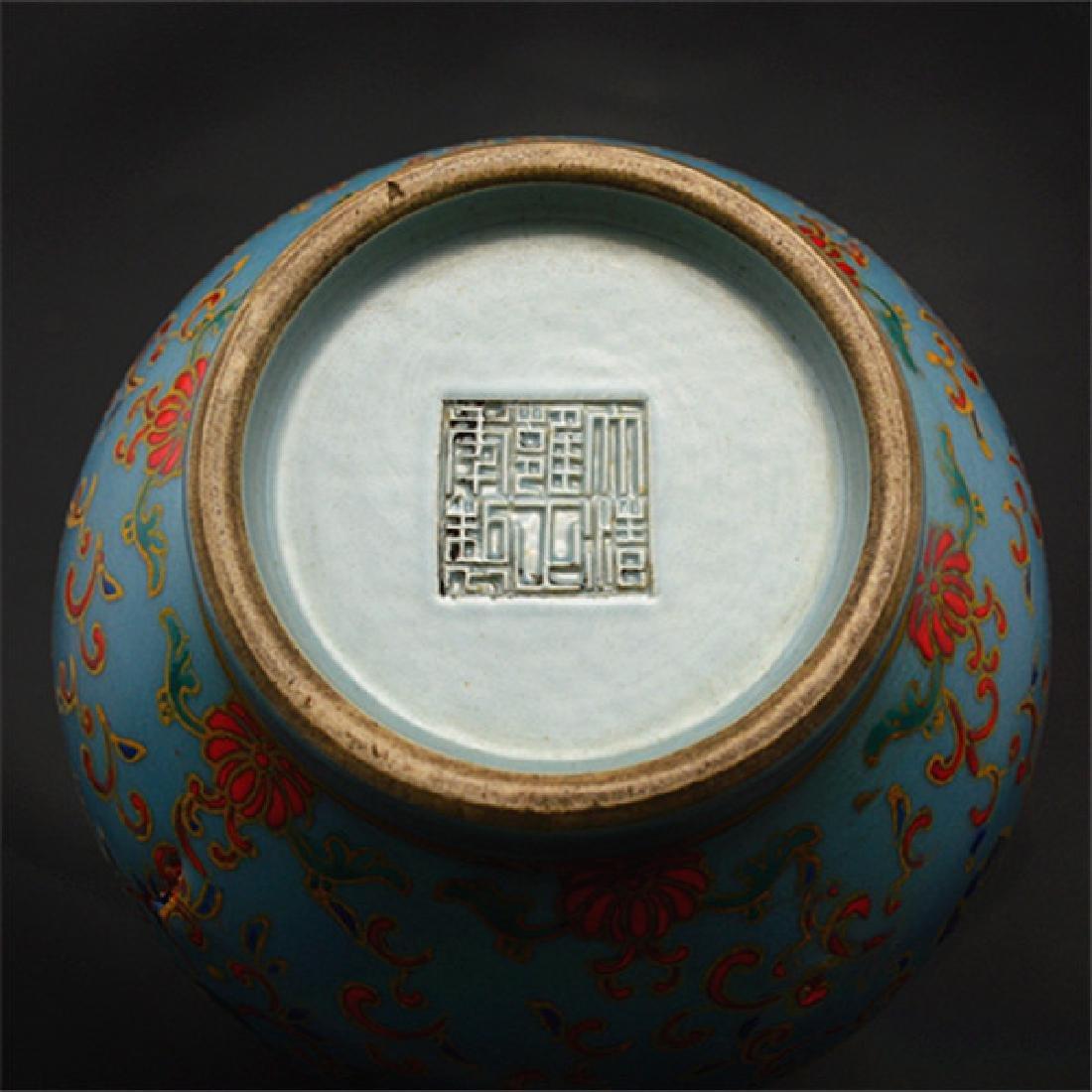 Chinese Qing Dynasty Yongzheng Time Blue Glaze Enamel - 5