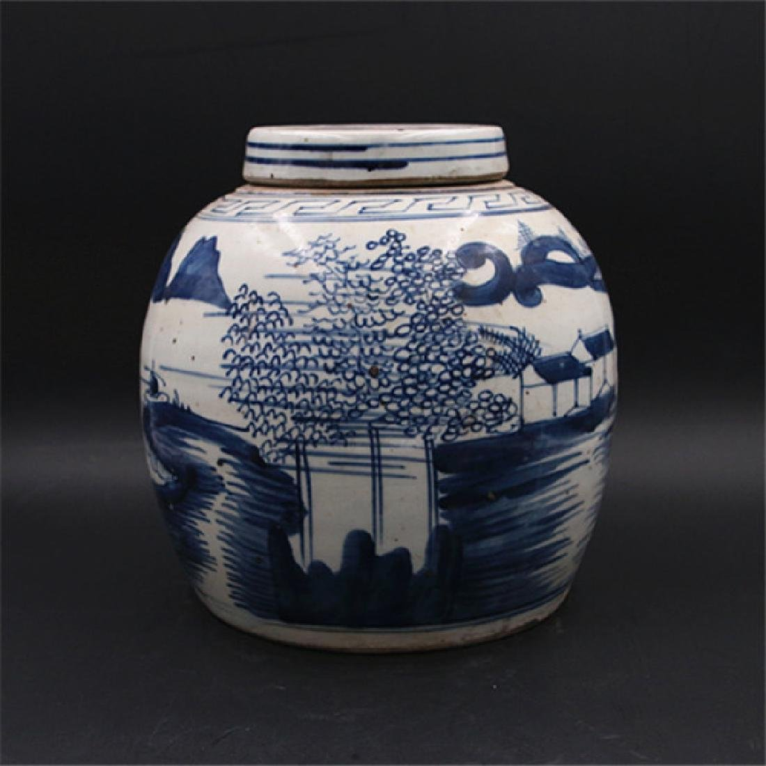 Chinese Republic Of China Blue & White Glaze Porcelain