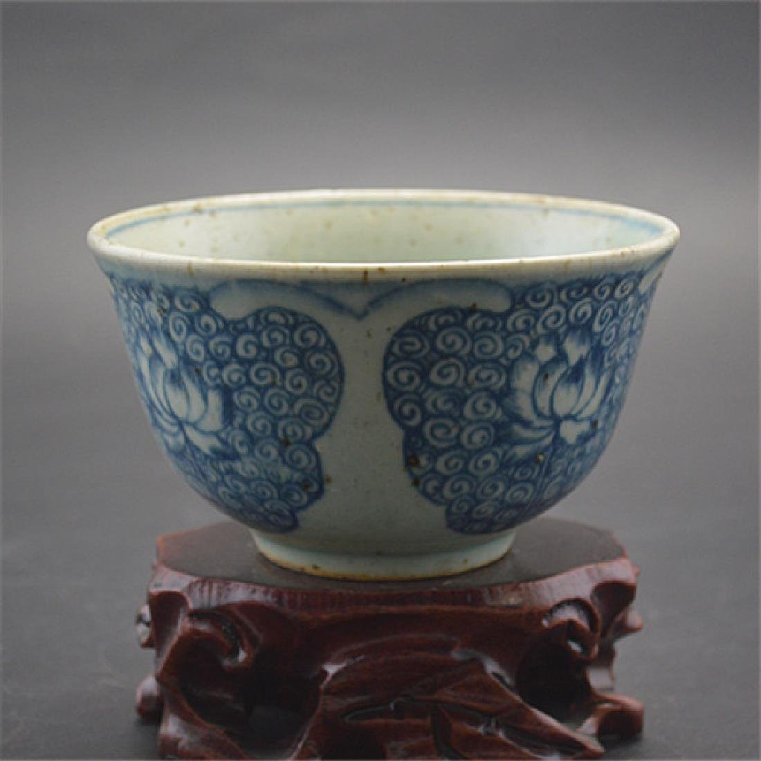Chinese Ming Dynasty Blue & White Glaze Porcelain