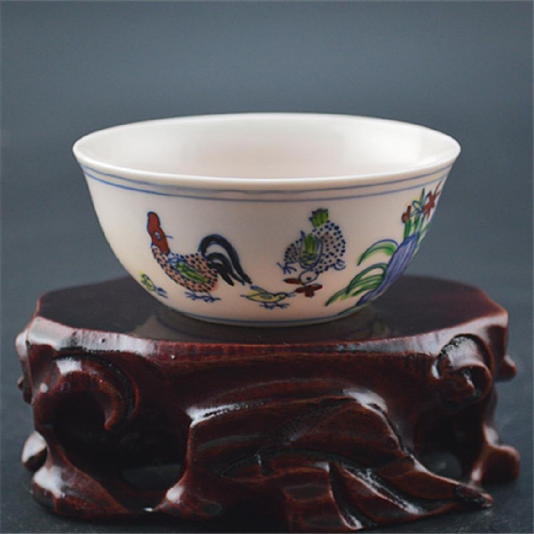 Chinese Ming Dynasty Chenghua Time Porcelain Cup With