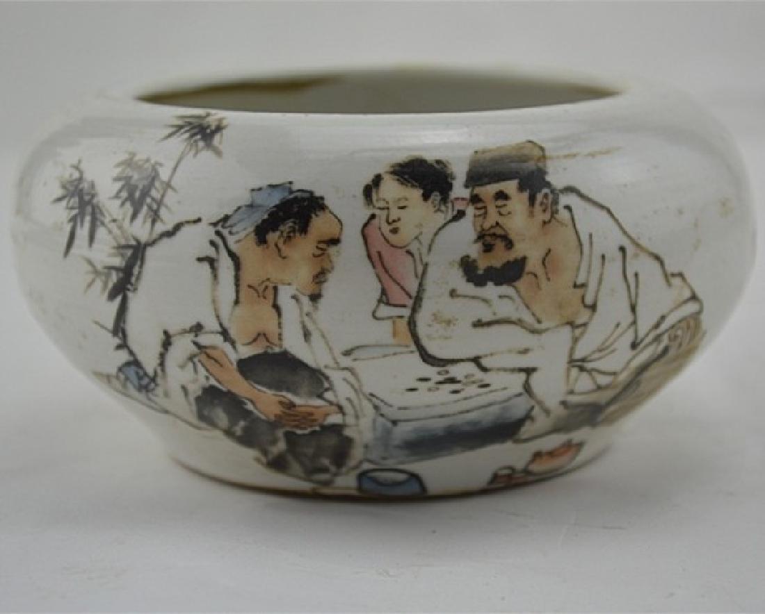 Chinese Republic Of China Porcelain Brush Washer