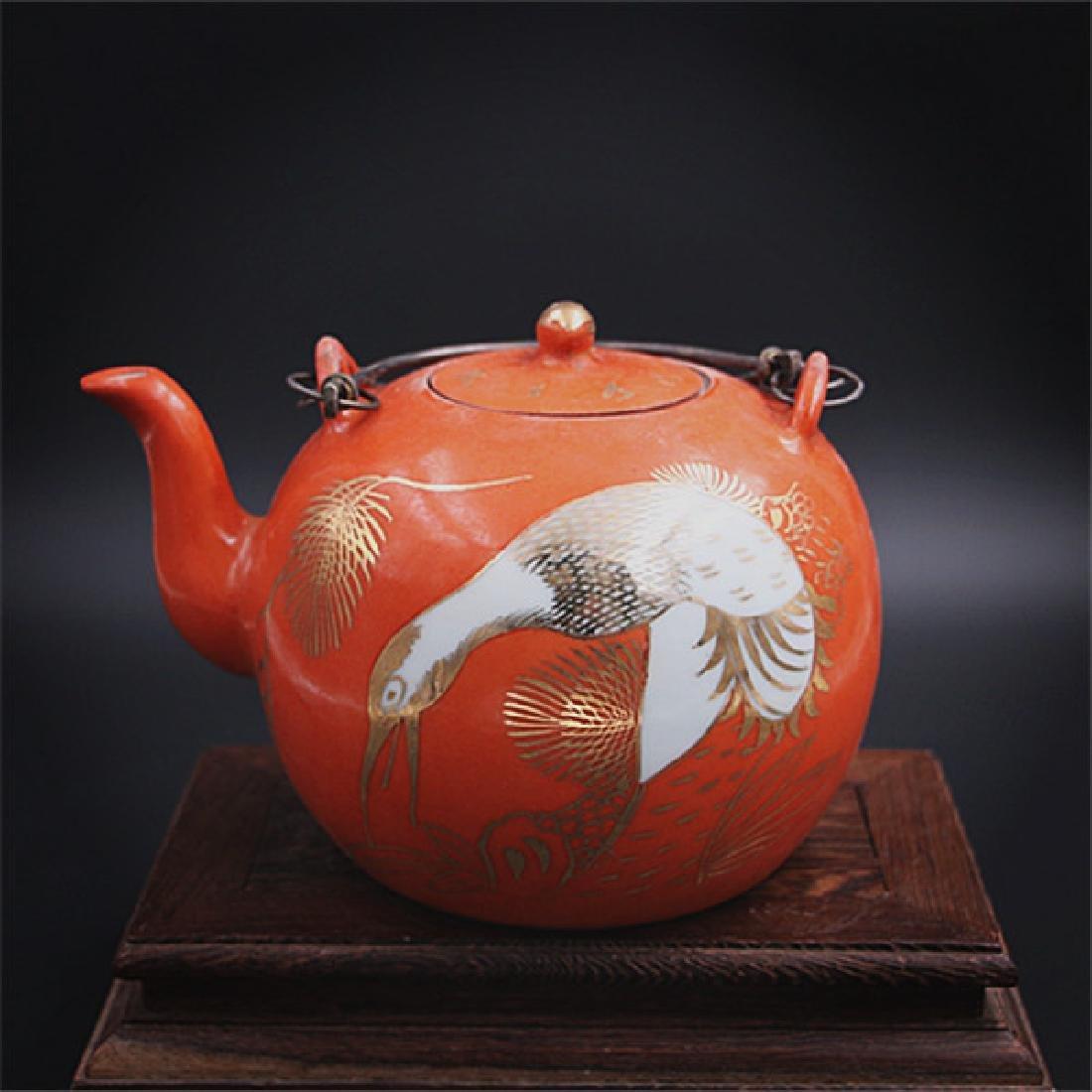 Chinese Qing Dynasty Tongzhi Time Red Glaze Porcelain