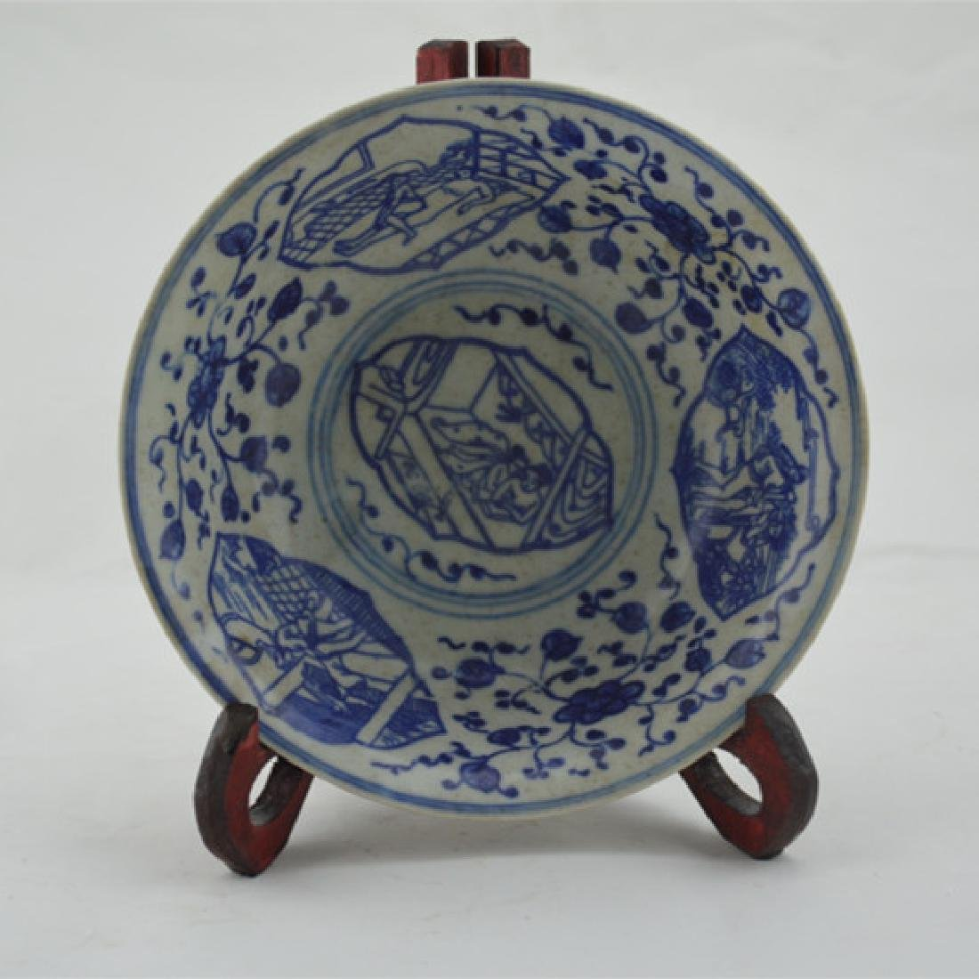 Chinese Qing Dynasty Blue & White Glaze Porcelain Bowl