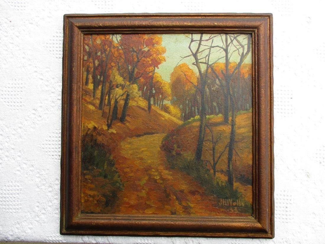 NICE Signed Antique Vintage Oil on Board Landscape