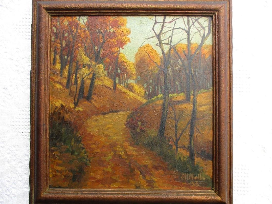 NICE Signed Antique Vintage Oil on Board Landscape - 2