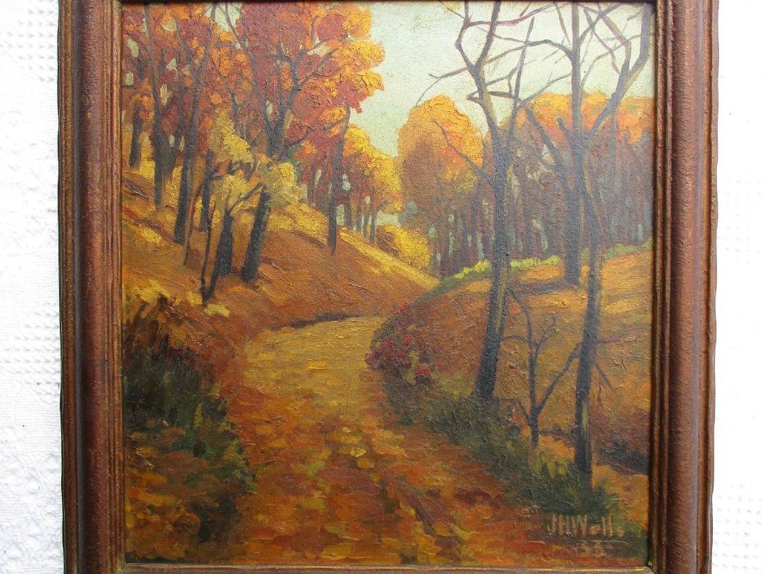 NICE Signed Antique Vintage Oil on Board Landscape - 3