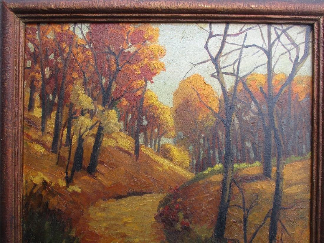 NICE Signed Antique Vintage Oil on Board Landscape - 4