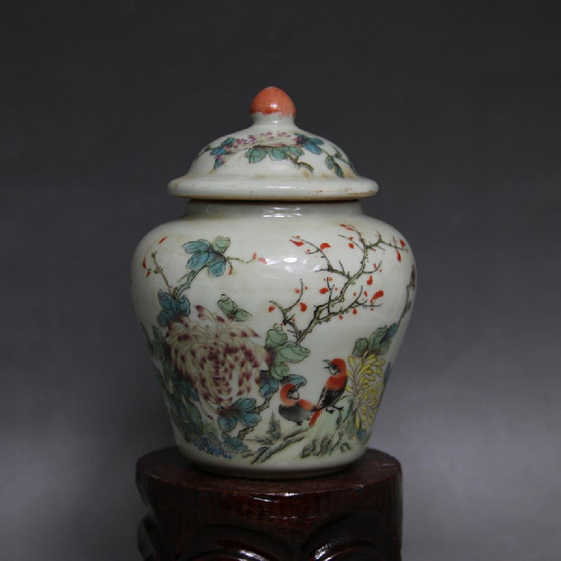 Chinese Qing Dynasty Famille-Rose Porcelain Canister