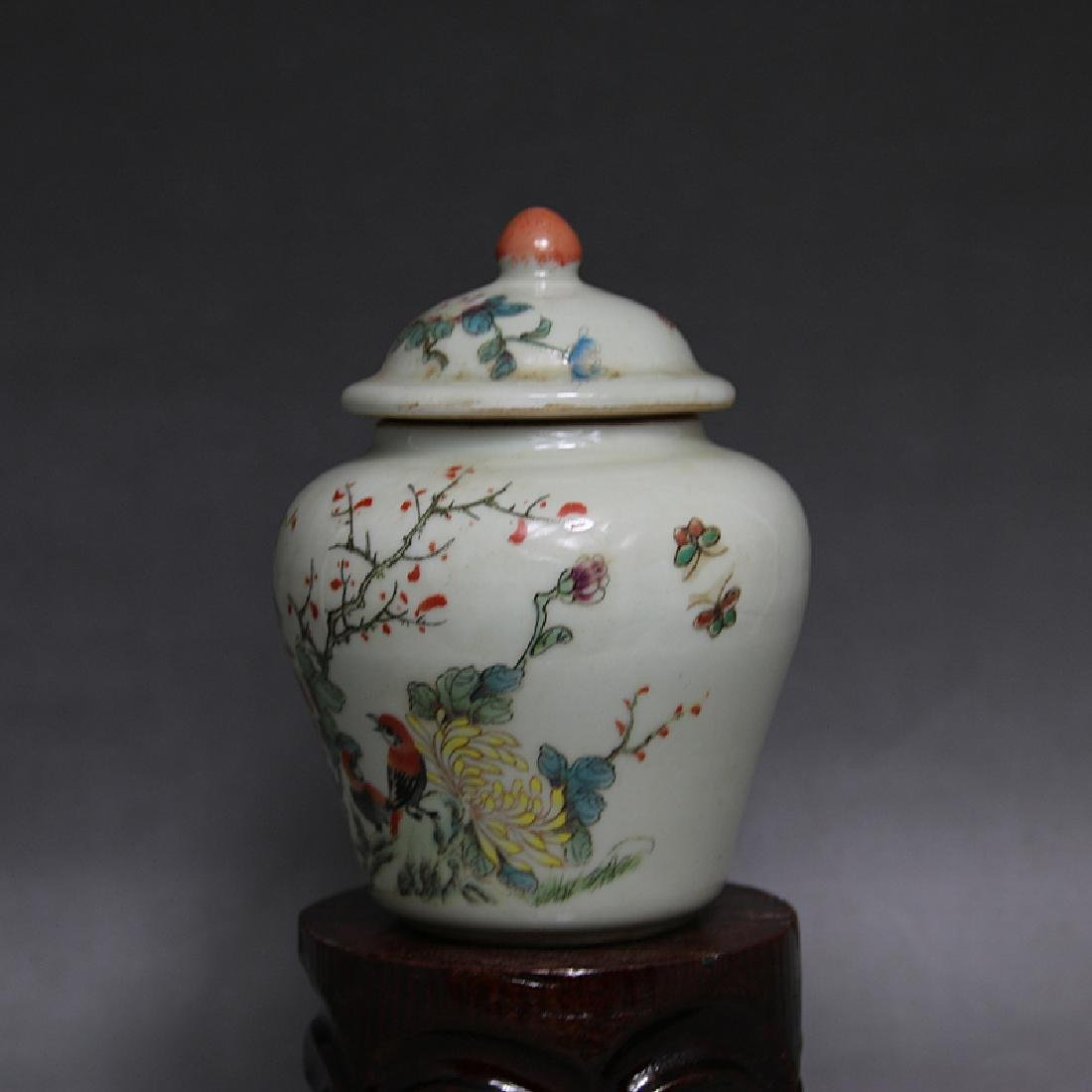 Chinese Qing Dynasty Famille-Rose Porcelain Canister - 2