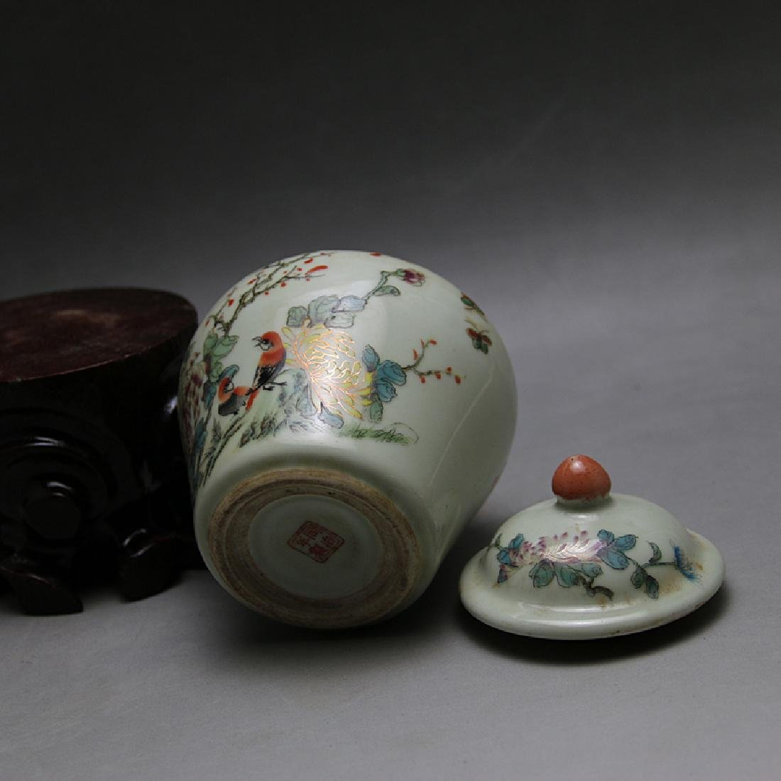 Chinese Qing Dynasty Famille-Rose Porcelain Canister - 4
