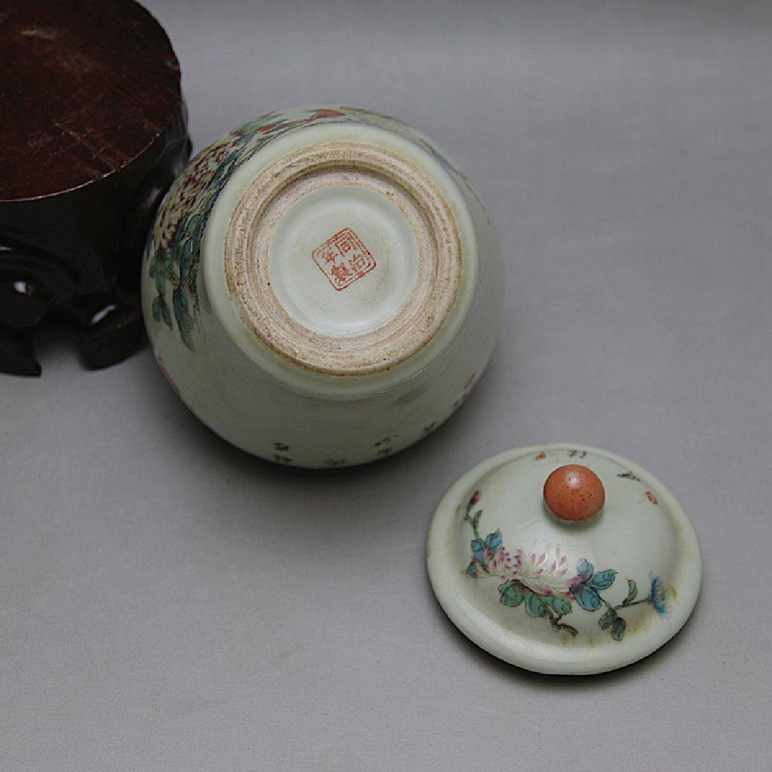 Chinese Qing Dynasty Famille-Rose Porcelain Canister - 5