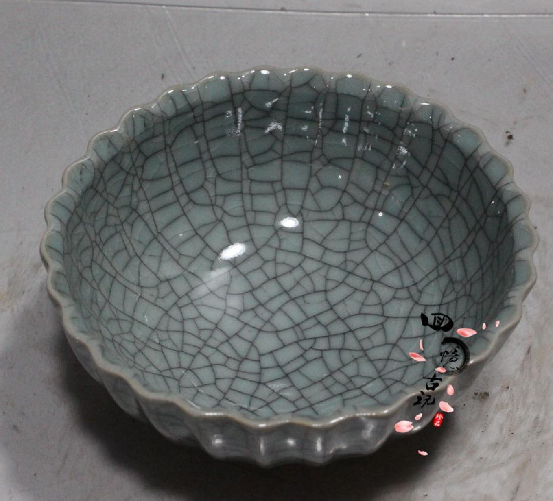 Chinese Antique Crackle Glaze Porcelain Bowl - 4