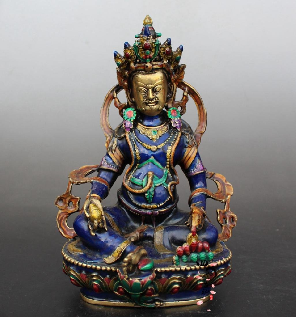 Chinese Antique Cloissone Buddha Statue
