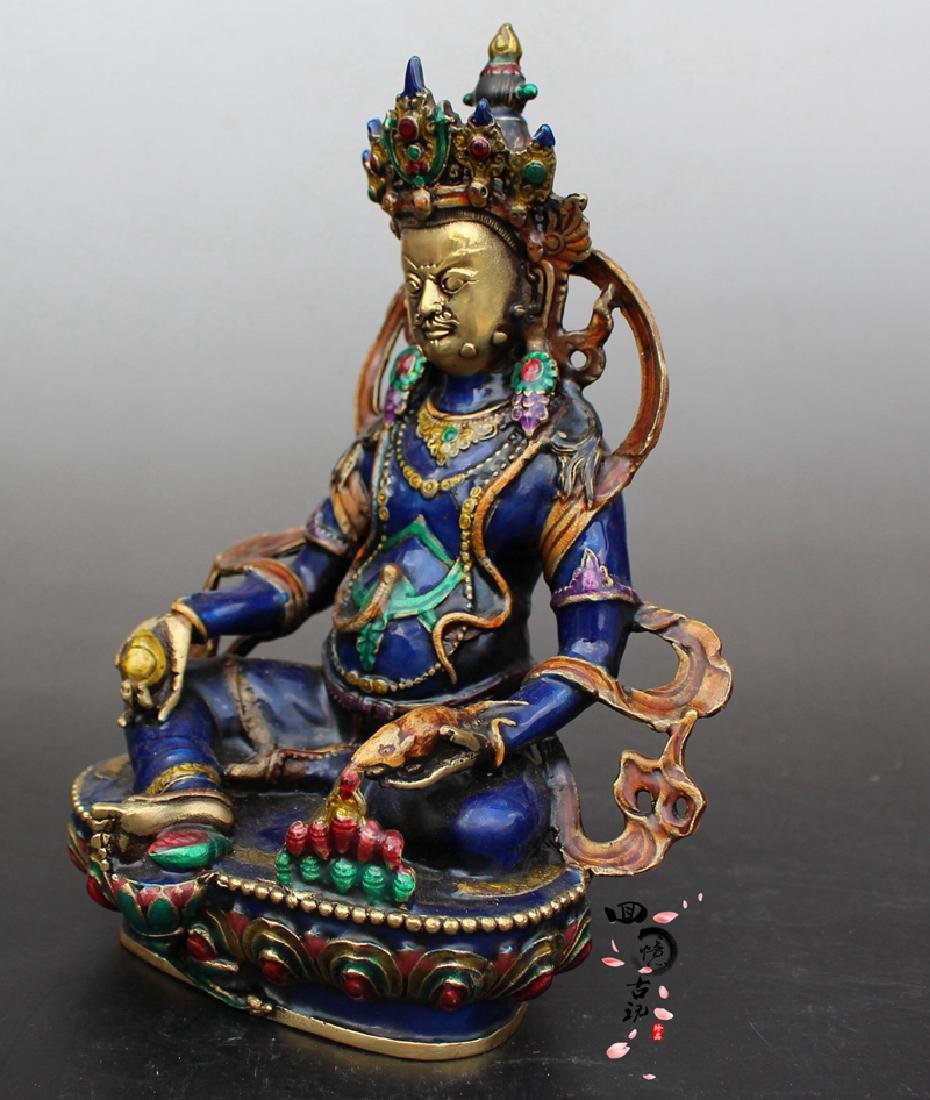 Chinese Antique Cloissone Buddha Statue - 2