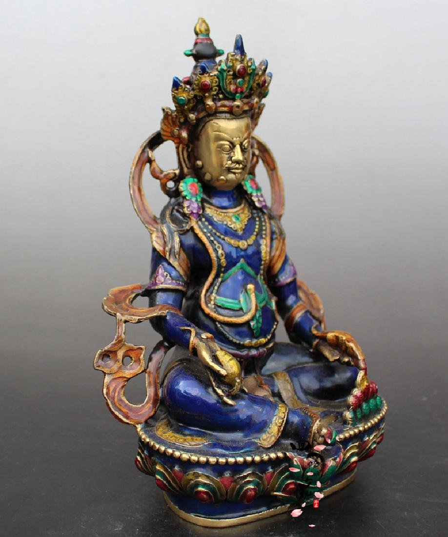 Chinese Antique Cloissone Buddha Statue - 3