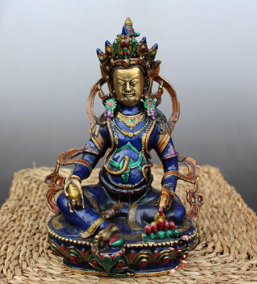 Chinese Antique Cloissone Buddha Statue - 5