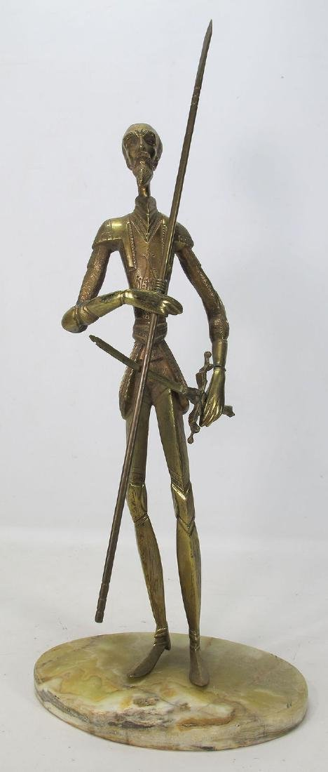 Vintage Don Quixote de La Mancha Brass/Bronze Sculpture