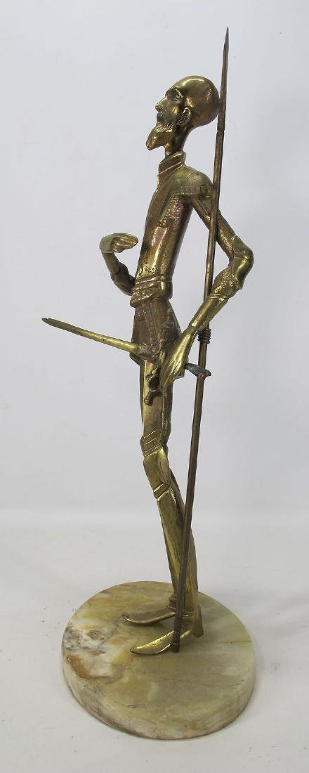 Vintage Don Quixote de La Mancha Brass/Bronze Sculpture - 2