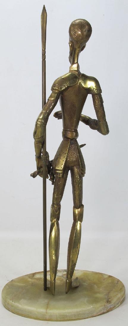 Vintage Don Quixote de La Mancha Brass/Bronze Sculpture - 3