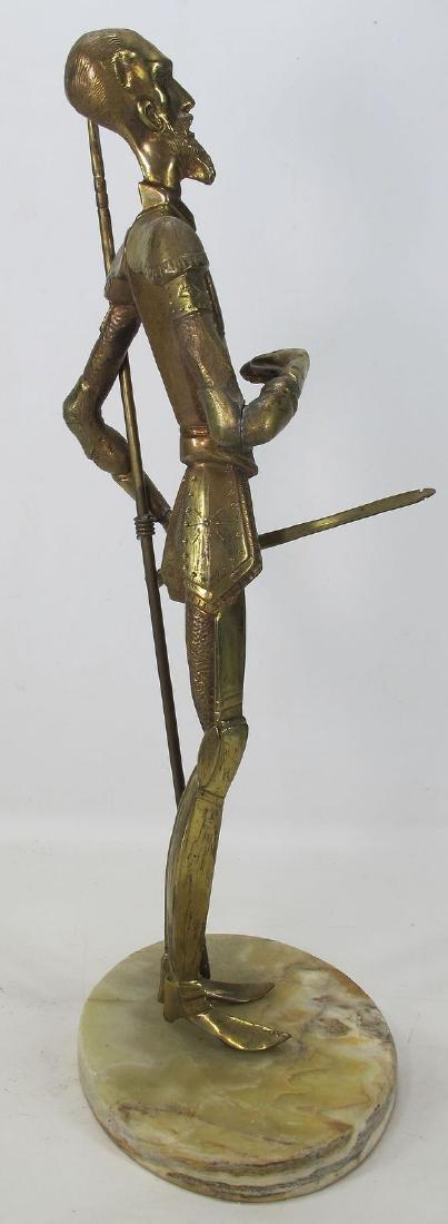 Vintage Don Quixote de La Mancha Brass/Bronze Sculpture - 4