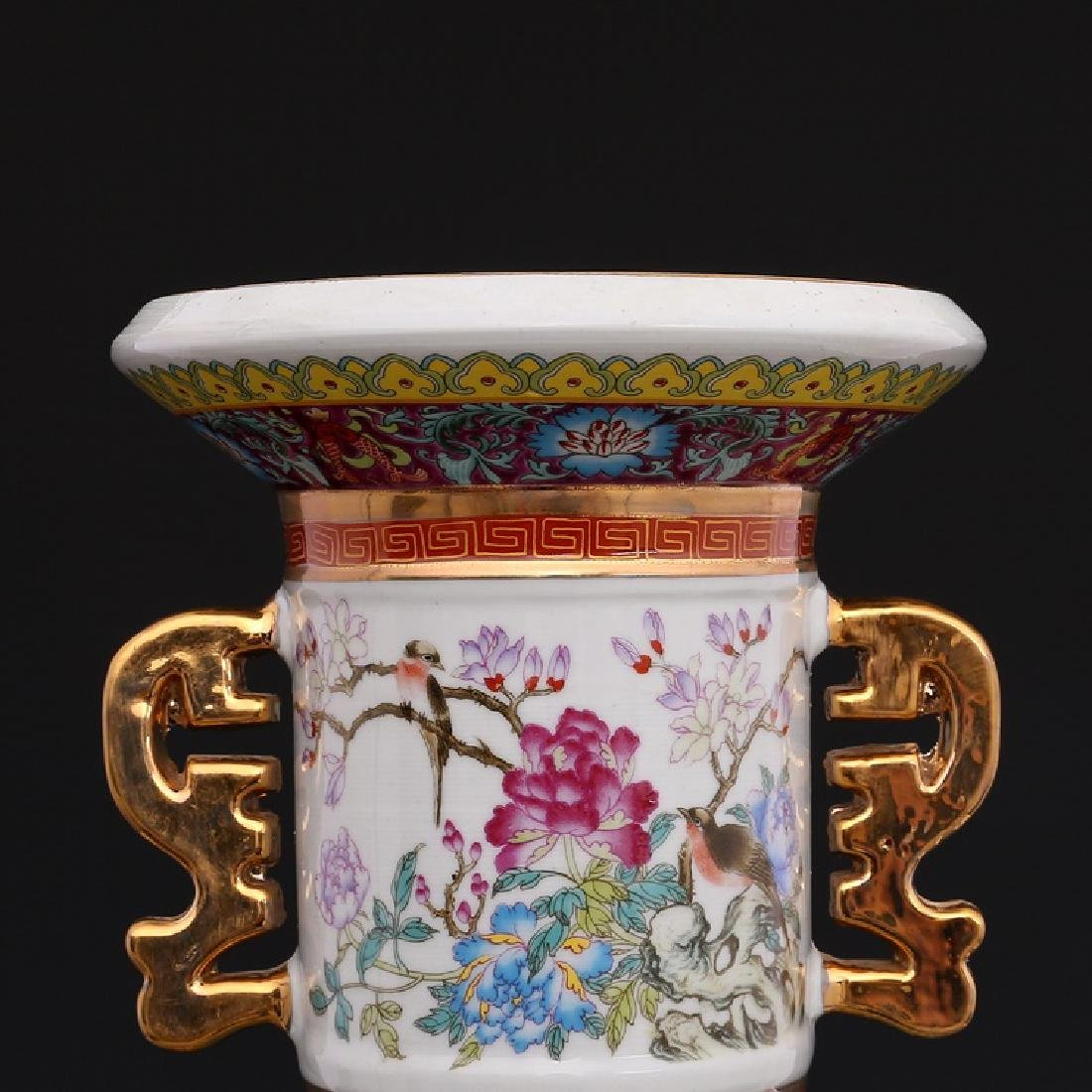 Chinese Qianlong Time Colorful Enamel Porcelain Vase - 5