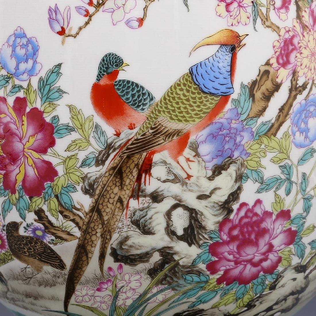 Chinese Qianlong Time Colorful Enamel Porcelain Vase - 6