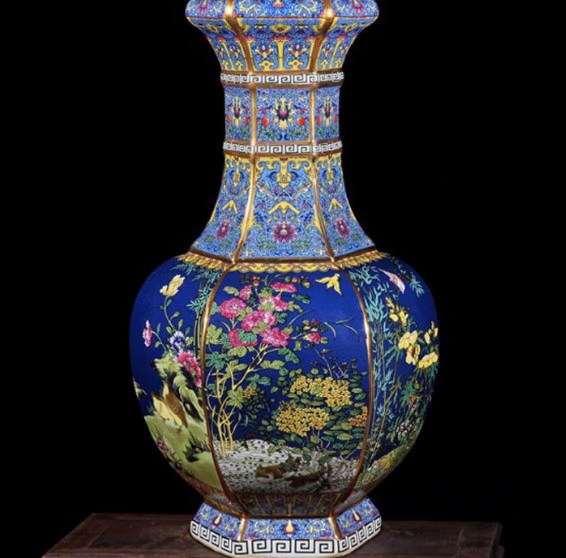 Chinese Qianlong Time Jingdezhen Colorful Enamel