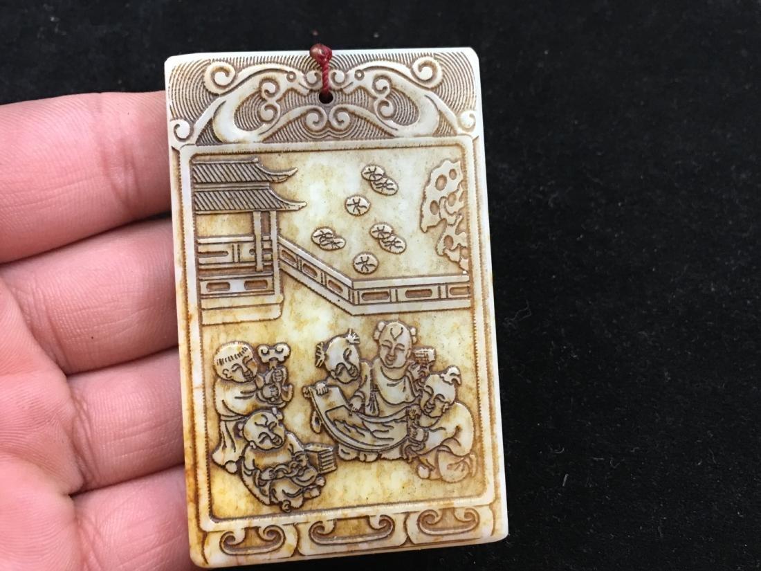 Chinese Antique Jade Pendant - 5