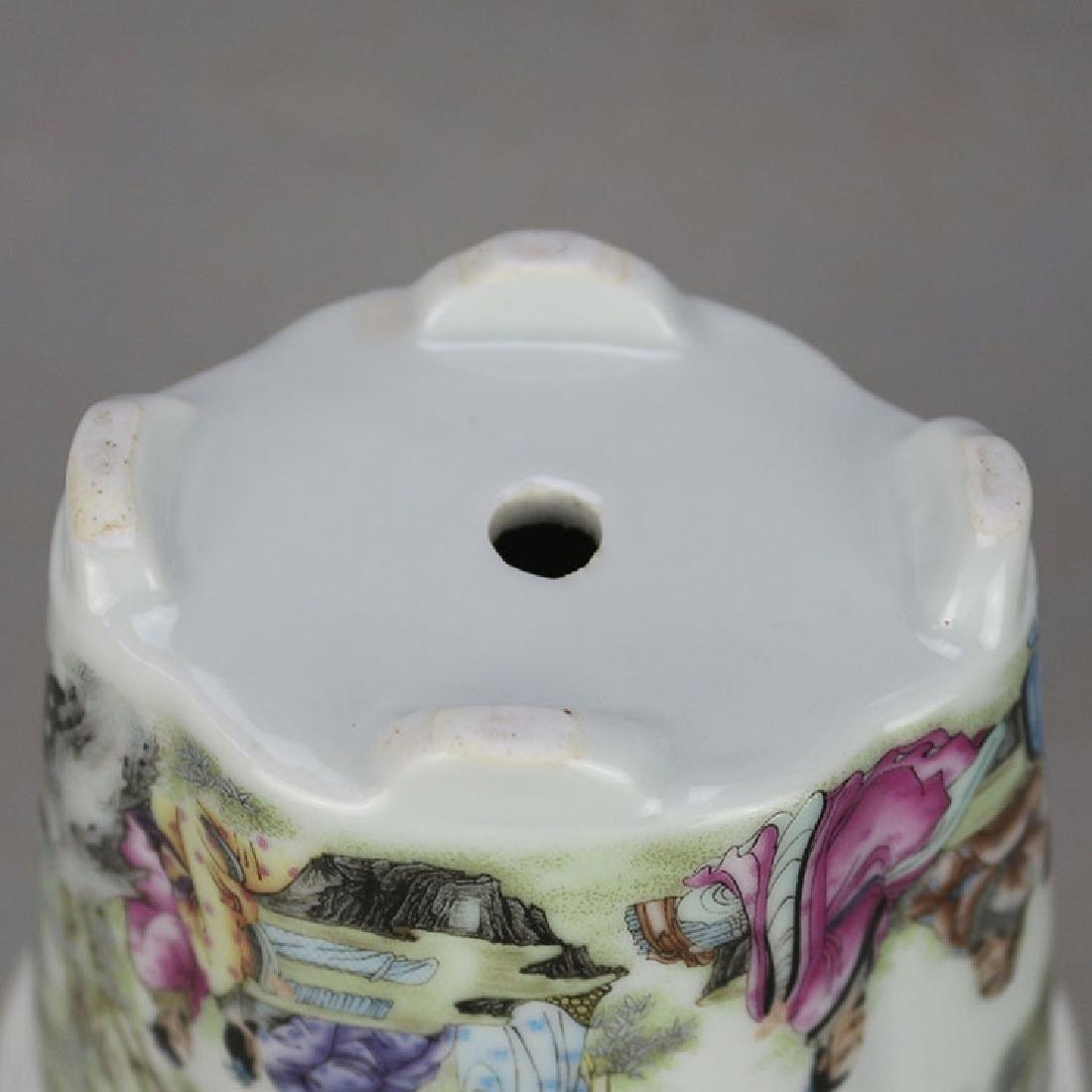 Chinese Antique Famille-Rose Porcelain Flower Pot - 6