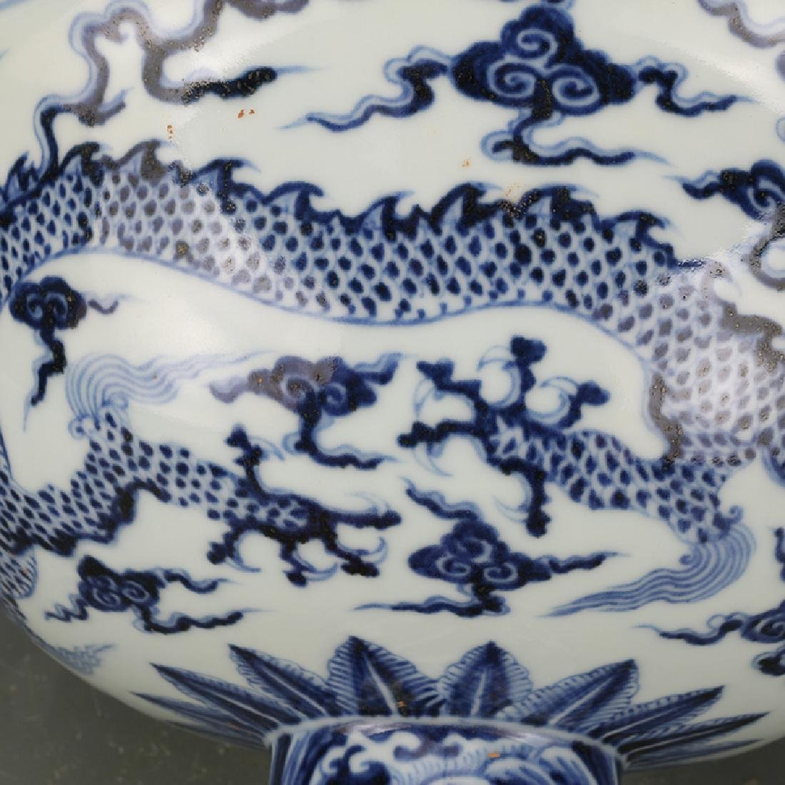Chinese Qing Dynasty Xuande Time Blue & White Glazed - 3