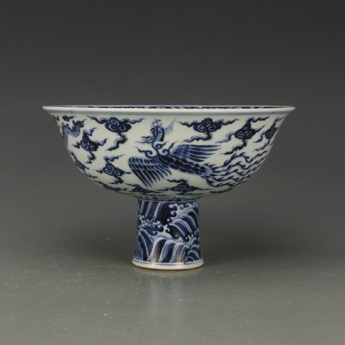 Chinese Qing Dynasty Xuande Time Blue & White Glazed - 5